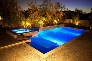 Swimming Pool and Spa Night Shot